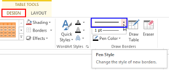 Change Table Style Set Line Style For Table Borders In Powerpoint 2013 For Windows