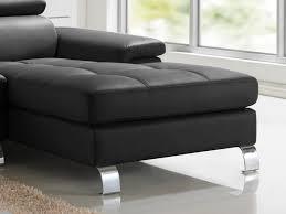 canape d angle en cuir noir canapé d angle cuir de vachette 5 coloris mishima