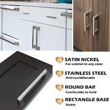 modern kitchen cabinet knobs and pulls hdj14sn diameter 14mm 0 55 inch homdiy brushed nickel