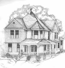 photos drawing of house in pencil drawing art gallery
