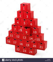 Christmas Tree Advent Red Christmas Tree Advent Box Calender Stock Photo 47634156 Alamy