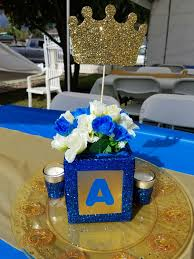 Baby Boy Shower Centerpiece by Baby Prince Theme Babyshower Centerpieces My Diy Projects