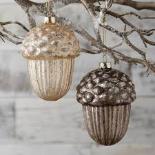 pinecone glass ornaments set of 2 shelley b home and