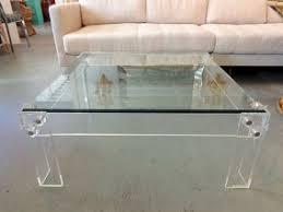 square lucite coffee table lucite circa who