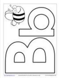 letter b collage sheet preschool items juxtapost