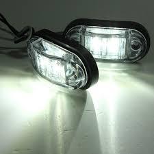 led truck marker lights 12v 24v 2 led side marker lights l for car truck trailer alex nld