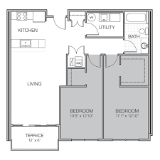 what is wh in floor plan apartment floor plan x mosaic on oakland luxury apartments