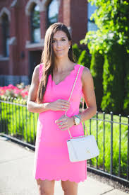 Pink Scallop Dress A Southern Drawl