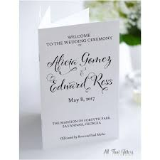 ceremony programs wedding ceremony programs all that glitters invitations
