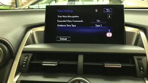 lexus nx hingham how to train the voice recognition system in a lexus youtube