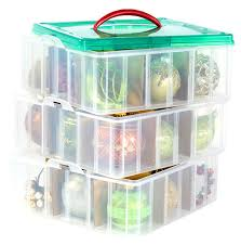 snapware paksh christmas plastic ornament storage container