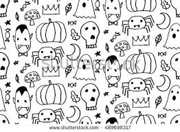Design Patterns For Cards Seamless Halloween Pattern Card Banner Poster Stock Vector
