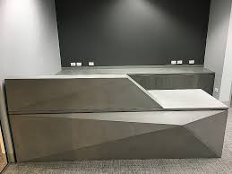 Concrete Reception Desk Office Furniture Solutions Salt Lake City Beautiful Polished