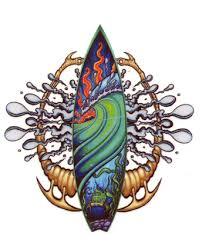 surf tattoo designs tattoo waves water green fish sheet