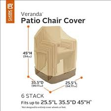 Classic Accessories Patio Furniture Covers by Classic Accessories Veranda Stackable Chairs Cover 78972 Pebble