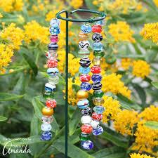 decorative garden stakes a pretty and easy garden diy project