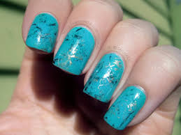 turquoise stone wallpaper muggle manicures tutorial turquoise stone nails with step by
