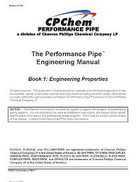the performance pipe engineering manual polyethylene pipe