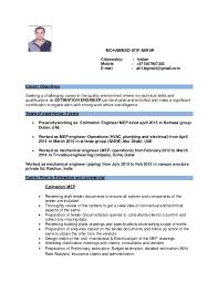 Resume Mechanical Engineer Sample by Download Estimation Engineer Sample Resume Haadyaooverbayresort Com