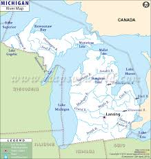 Michigan rivers images Rivers in michigan michigan rivers map jpg