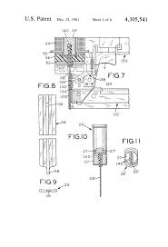 patent us4305541 electronically operated portable nail gun