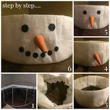 the cutest diy snowman tree skirt for