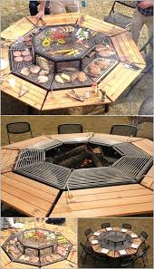 Bbq Side Table Plans Fire Pit Design Ideas - 20 diy fire pit ideas 2 grilling bbq table and backyard