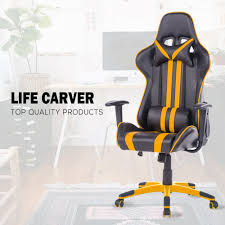 High Back Leather Recliner Chair Life Carver Racing Sport High Back Reclining Swivel Gaming