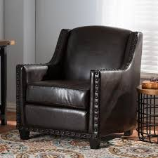 monarch specialties dark brown kids chair with ottoman i 8103