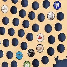 Colorado Brewery Map by Colorado Flag Beer Cap Map