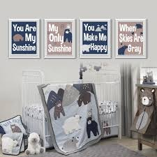 Baby Boy Nursery Room by Baby Boy Nursery Art Print Lambs And Ivy Montana Art Bear