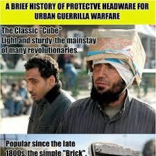 Gorilla Warfare Meme - protective headware for guerrilla warfare by daml meme center