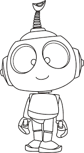 robots pose cute coloring pages for kids gya printable robots