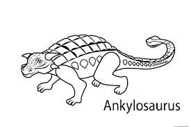 ankylosaurus coloring page ankylosaurus dinosaur free coloring
