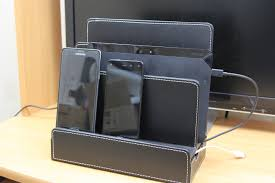 multiple devices charging station dock organizer cell phones