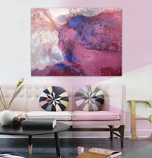 sell home decor watercolor pink modern abstract painting 2017 new hot sell sunrise