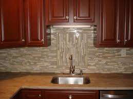 Kitchen With Tile Backsplash Kitchen Glass And Linear Backsplash With Accent