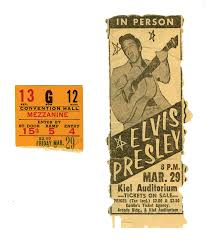 ticket stub album lot detail march 29 1957 elvis st louis mo concert
