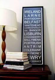 Bus Blind Art Ireland Framed Linen Coach Bus Destination Blind Ireland