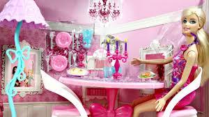 Barbie Dining Room Glam Dining Room Jadalnia Z Lalką Mebelki Barbie X7942