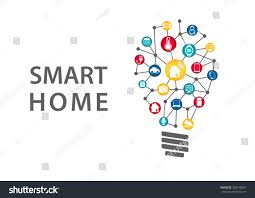 smart home automation concept vector illustration stock vector