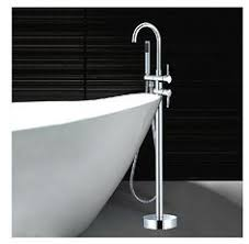 Floor Mounted Faucet Floor Mounted Bath Tub Faucet Chrome Tub Filler Mixer Tap W Abs