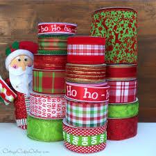 santa u0027s bag of christmas ribbon wreath supplies cottage