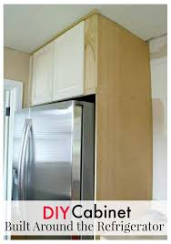 how to trim cabinet above refrigerator how to build a diy refrigerator cabinet chatfield court