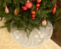 christmas tree skirts no sew christmas tree skirt hgtv