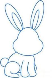 coloring elegant rabbit drawing easy coloring rabbit