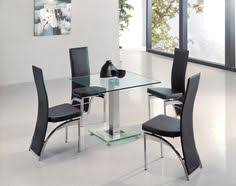 Dining Room Table Glass Harley Black And Clear Glass Dining Table And 4 Black Chairs 4