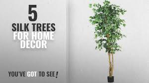 fake trees for home decor top 10 silk trees for home decor 2018 nearly natural 5209 ficus
