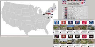 Milb Map Minor League Baseball The Eastern League Billsportsmaps Com