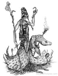 pencil sketch of apep god pictures